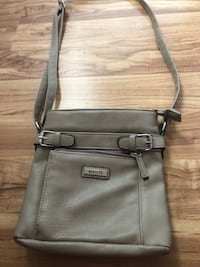 gray leather 2-way bag Laval, H7R 5A8
