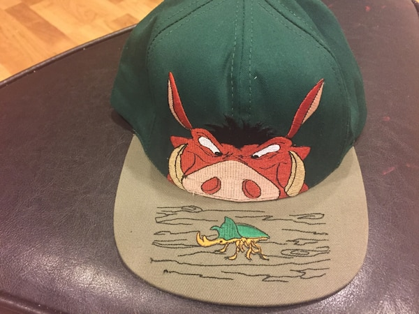 Used Disney s Lion King SnapBack Hat Cap Pumba Rare for sale in ... ba1f67cf572