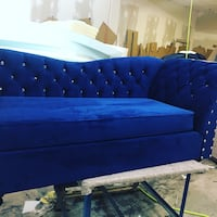 blue and white tufted bed Brampton, L6P 1R6