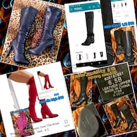 All these ladies thigh highs and regular boots on new sizes are on eac Las Vegas, 89106