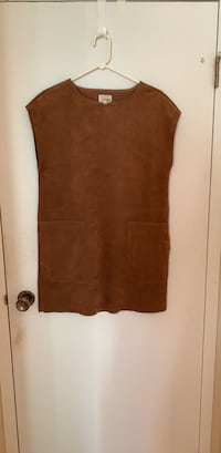 Aritzia Wilfred Free nori dress suede brown size S Richmond, V7C 3K8