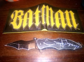 Batman wallet and knife