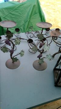 Wrought iron candle holders with vines Antelope, 95843