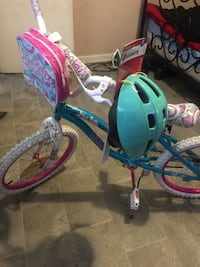 Toddler's blue and pink bicycle with training wheels Memphis, 38111