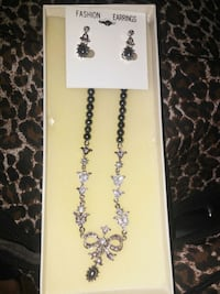 silver-colored necklace with earrings San Bernardino, 92405