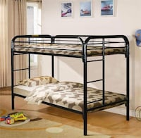 black metal bunk bed frame