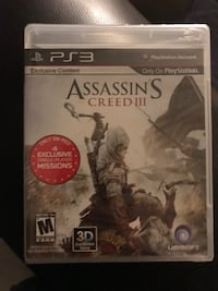 Assassins creed 3 for PlayStation 3