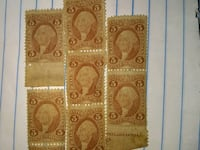 1866 George Washington stamps. In. Really. Good. 352 mi