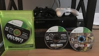 Black xbox 360 game console with controller and 3 games Glen Allen, 23059