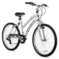 white and green hardtail mountain bike Springfield, 22153