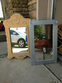 brown wooden framed mirror with mirror Lexington, 29072