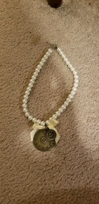 Steampunk pearl necklace