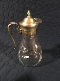 Vintage silver and glass pitcher  Arlington, 22213