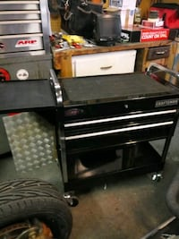 black and gray Craftsman deluxe tool cart Muskegon, 49442