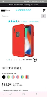 NEW LIFEPROOF FRĒ FOR iPHONE X RED FIRE RUN CASE  Toronto