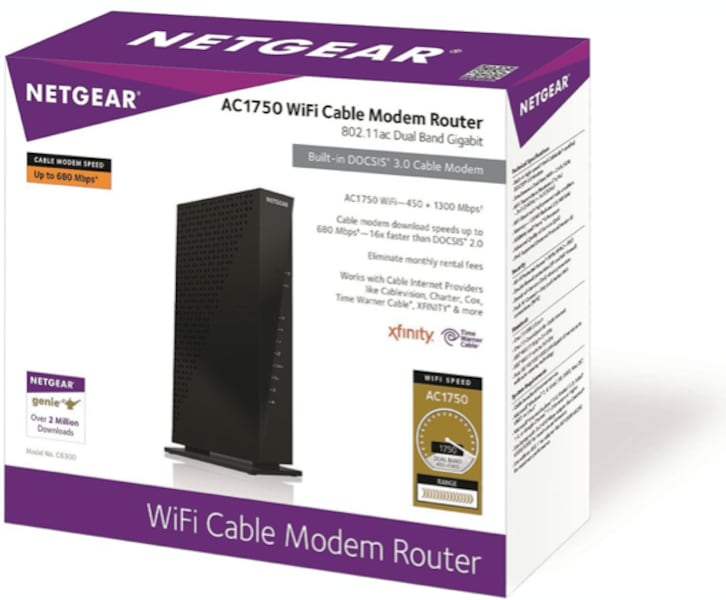 Brand New!  〉NETGEAR AC1750 WIFI CABLE MODEM ROUTER 7