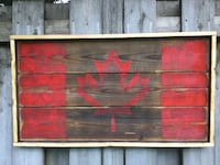 "Wooden Canadian flags (30""x16') Kitchener, N2H 4R9"