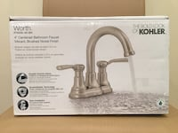 Brand NEW Kohler Worth 4 in. Centerset 2-Handle Bathroom Faucet in Vibrant Brushed Nickel $65 FIRM!! Springfield, 22151