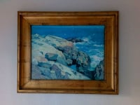 rocks near body of water painting with brown wooden frame Milpitas, 95035