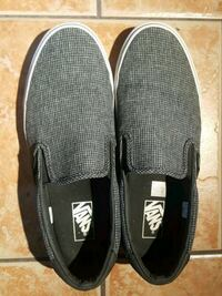 pair of black Vans slip-on shoes North Vancouver, V7P