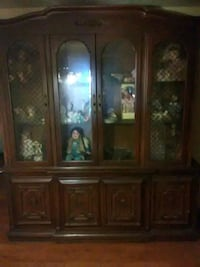 brown wooden china buffet hutch Orlando, 32807