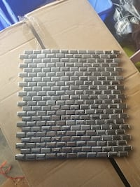 Chrome Plated Porcelain Backsplash Tile Pickering
