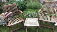 Deck chairs and table. Eucalyptus  Silver Spring, 20901