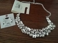 silver and diamond studded necklace Modesto, 95356