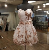 White and rose gold grad/prom dress Windsor, N8X 4L8