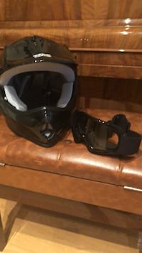 TMS kids helmet size L. Black and gray full face helmet with goggles Falls Church, 22046