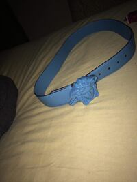 Blue and white leather belt Springfield, 01109