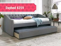 Loretta Gray Daybed with Trundle    Houston
