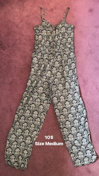 gray and white floral pants Russell, K4R 1B7