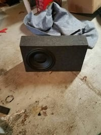 "12"" black subwoofer box"