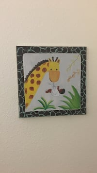 Giraffe painting with black wooden frame Tulare, 93274