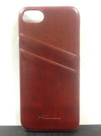 Brown luxury card slot leather back case for iPhone 7 Simcoe, N3Y 3V5