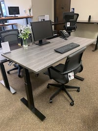 Newport Grey Sit-Stand Office Desk Tigard, 97223