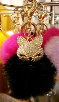 Cat Head Pom Pom Keychain  Woodbridge, 22193