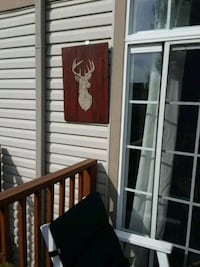 Large Deer Head, hand painted sign Round Lake, 60073