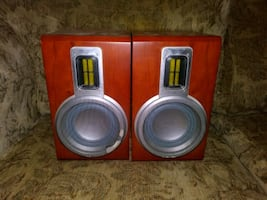 Philips MCD708 Two Way Bookshelf Speakers.