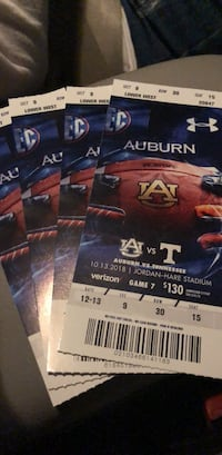 Auburn tickets vs Tennessee  Hoover, 35244