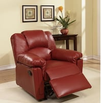 Fathers Day Sale - Burgundy Recliner  Hialeah, 33012