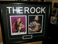 wwe's the Rock signed & authenticated photo (FIRM  Toronto, M1L 2T3