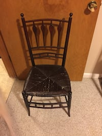 Vintage Wooden Chair w/wicker seat