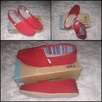 BRAND NEW RED TOMS WITH BOX!!!