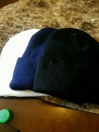 blue and white knit cap Greeley, 80634