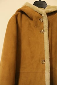 brown and white button-up coat Toronto, M6M 1V8