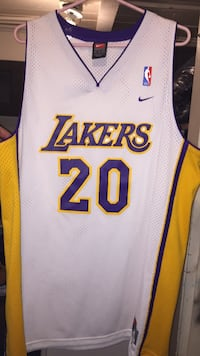 white and red Lakers 24 jersey shirt Oxnard, 93030