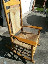 brown wooden rocking chair with ottoman Mississauga, L4Z 1J6