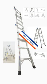 Heavy Duty WERNER ALL-IN 1 14' Adjustable Ladder! ONLY ONE YOU NEED!